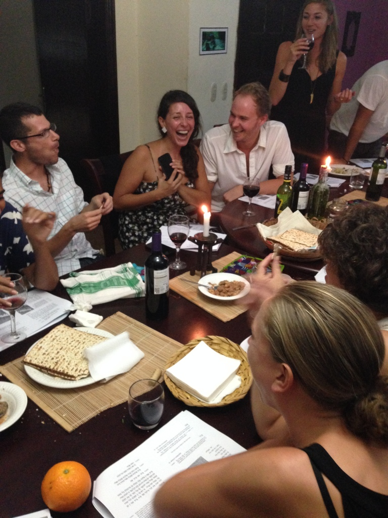 For some reason our seder also included a matzoh eating competition - very entertaining. :)